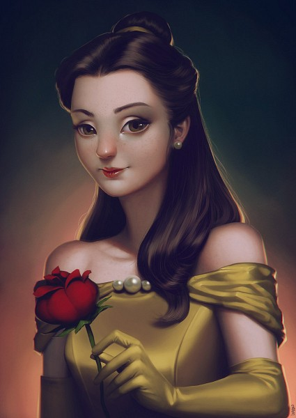 Tags: Anime, Beauty and the Beast, Beauty and the Beast (Disney), Belle (Beauty and the Beast), Belle, Artist Request, Disney