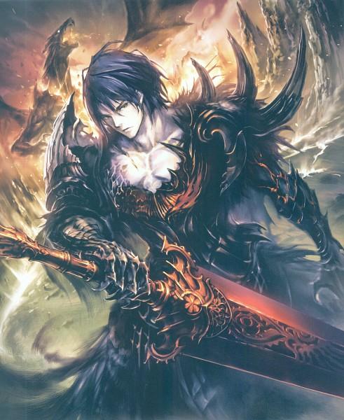 Tags: Anime, Hisakata Souji, Cygames, Shingeki no Bahamut, Beowulf (Shingeki no Bahamut), Self Scanned, Scan, Official Art, Official Card Illustration