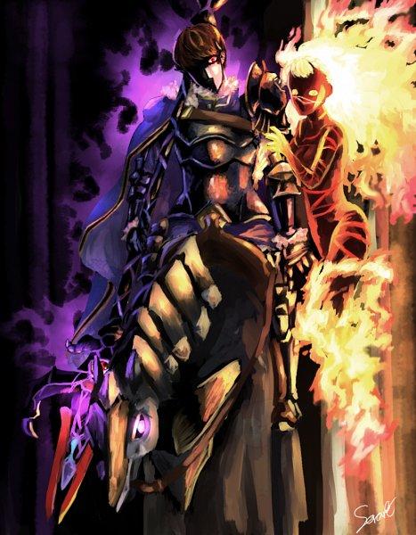 Tags: Anime, Pixiv Id 3305780, Fire Emblem Gaiden, Linea (Fire Emblem), Berkut (Fire Emblem)