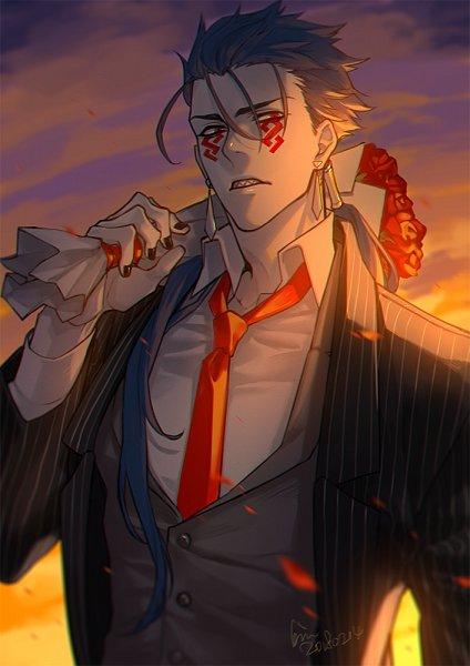 Tags: Anime, Pixiv Id 1217087, Fate/Grand Order, Lancer (Fate/stay night), Berserker (Cú Chulainn Alter), Fanart