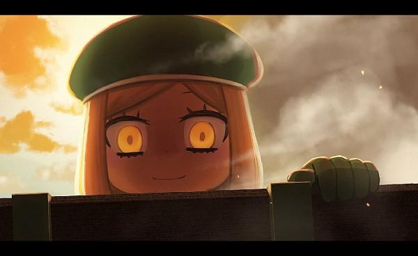Tags: Anime, Pixiv Id 9061925, Fate/Grand Order, Berserker (Manga de Wakaru! FGO), Shingeki no Kyojin (Parody)