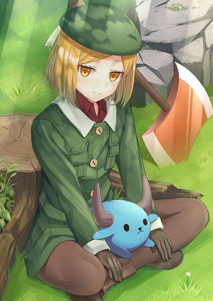 Tags: Anime, Pixiv Id 5162440, Fate/Grand Order, Berserker (Manga de Wakaru! FGO), PNG Conversion