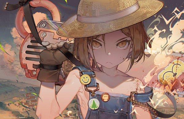 Tags: Anime, kawacy, Fate/Grand Order, Berserker (Manga de Wakaru! FGO), Paul Bunyan, deviantART, Pixiv, Fanart, Fanart From DeviantART, Fanart From Pixiv