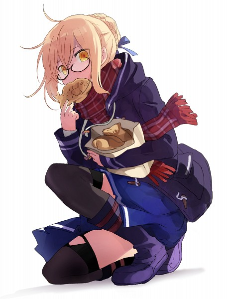 Tags: Anime, Pixiv Id 6319865, Fate/Grand Order, Berserker (Mysterious Heroine X Alter), Saber (Fate/stay night), Taiyaki