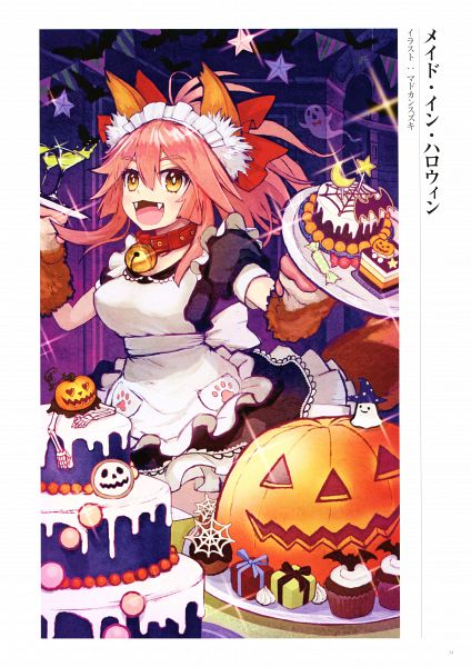 Tags: Anime, Madokan Suzuki, DELiGHTWORKS, Fate/Grand Order Memories I, Fate/Grand Order, Caster (Fate/EXTRA), Berserker (Tamamo Cat), Official Art, Scan
