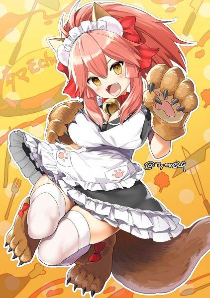 Tags: Anime, TYONE, Fate/Grand Order, Caster (Fate/EXTRA), Berserker (Tamamo Cat), Fanart From Pixiv, Pixiv, Fanart