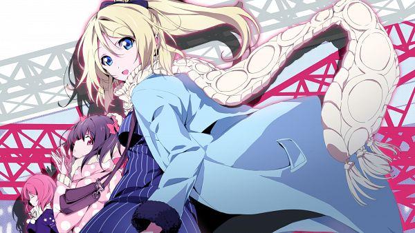 Tags: Anime, Okiura, Love Live!, Yazawa Niko, Nishikino Maki, Ayase Eri, HD Wallpaper, Wallpaper, BiBi (Love Live!)