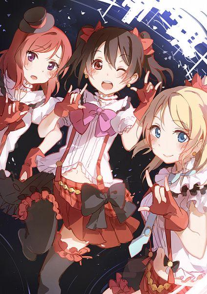 Tags: Anime, Asuka (Louyun), Love Live!, Ayase Eri, Yazawa Niko, Nishikino Maki, Mobile Wallpaper, Bokura wa Ima no Naka de, BiBi (Love Live!)