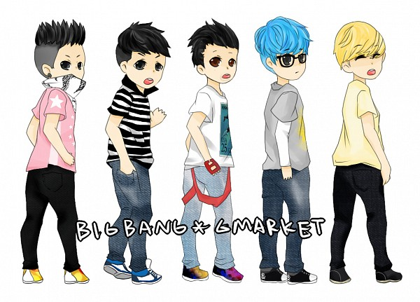 Tags: Anime, Pixiv Id 3684802, G-dragon, Daesung, Taeyang, T.O.P, Seungri, K-pop, Big Bang