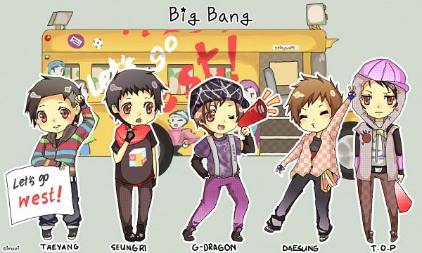 Tags: Anime, Taeyang, T.O.P, Seungri, G-dragon, Daesung, Bus, K-pop, Big Bang