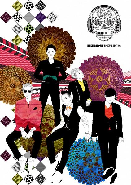 Tags: Anime, Seungri, G-dragon, Daesung, Taeyang, T.O.P, K-pop, Pixiv, Mobile Wallpaper, Big Bang