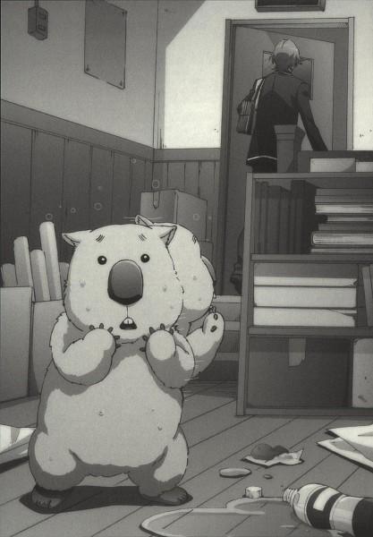 Tags: Anime, Hara Yumiko, Binan Koukou Chikyuu Bouei-bu Love!, Wombat (Binan Koukou Chikyuu Bouei-bu Love!), Yufuin En, Novel Illustration, Mobile Wallpaper, Official Art, Scan, Cute High Earth Defense Club Love!