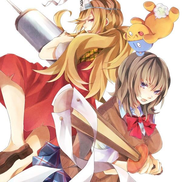 Tags: Anime, Petarou, Binbougami Ga!, Kumagai (Binbougami Ga!), Binboda Momiji, Sakura Ichiko, Syringe, Fanart From Pixiv, Pixiv, Fanart, Good Luck Girl!
