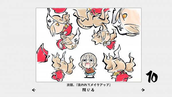 Tags: Anime, Sukeno Yoshiaki, Binbougami Ga!, Binboda Momiji, Sakura Ichiko, Binbougami Ga! - End Cards, Official Art, Wallpaper, HD Wallpaper, Good Luck Girl!