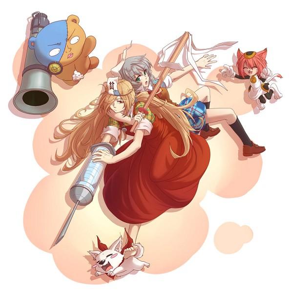 Tags: Anime, Pixiv Id 1350030, Binbougami Ga!, Kumagai (Binbougami Ga!), Inugami Momoo, Binboda Momiji, Tama (Binbougami Ga!), Sakura Ichiko, Fanart From Pixiv, Pixiv, Fanart, Good Luck Girl!