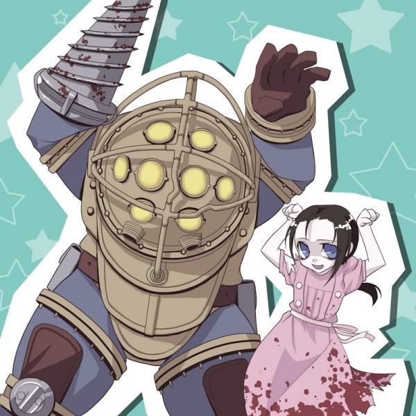 Tags: Anime, BioShock, Little Sister, Big Daddy (BioShock), Caramelldansen