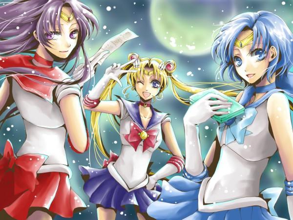 Tags: Anime, Pixiv Id 196462, Bishoujo Senshi Sailor Moon, Mizuno Ami, Sailor Mercury, Sailor Mars, Sailor Moon (Character), Tsukino Usagi, Hino Rei, Mercury Computer, Henshin Brooch, Fanart, Inner Senshi, Pretty Guardian Sailor Moon