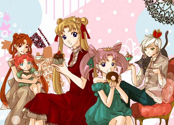 Tags: Anime, Pixiv Id 1726270, Bishoujo Senshi Sailor Moon, Luna (Sailor Moon), Chibi Chibi, Princess Kakyuu, Chibiusa, Yaten Kou, Tsukino Usagi, Fanart, Fanart From Pixiv, Pixiv, Pretty Guardian Sailor Moon