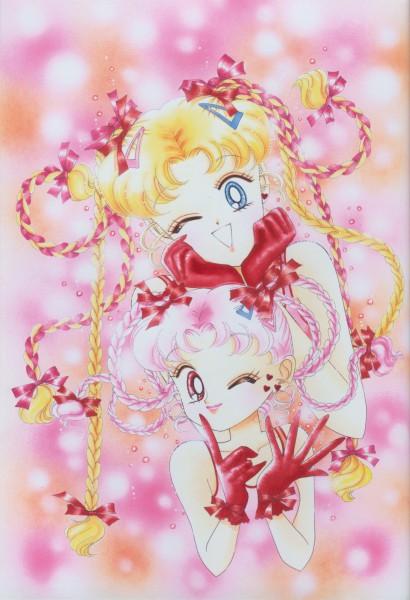 Tags: Anime, Takeuchi Naoko, Bishoujo Senshi Sailor Moon, Tsukino Usagi, Chibiusa, Official Art, Pretty Guardian Sailor Moon