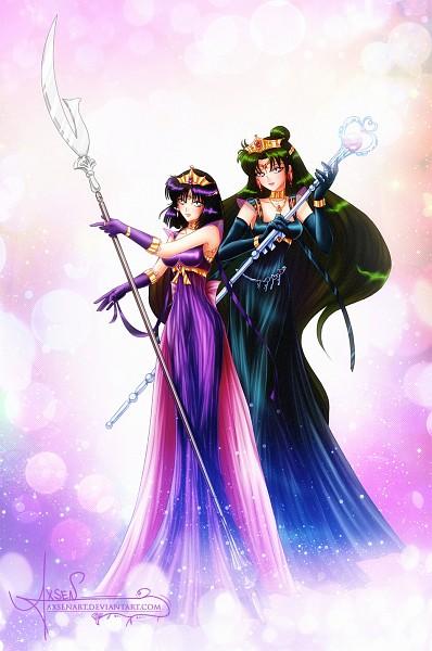 Tags: Anime, Axsens, Bishoujo Senshi Sailor Moon, Princess Pluto, Tomoe Hotaru, Princess Saturn, Meiou Setsuna, Silence Glaive, Glaive, Gown, Garnet Rod, Garnet Orb, deviantART, Pretty Guardian Sailor Moon