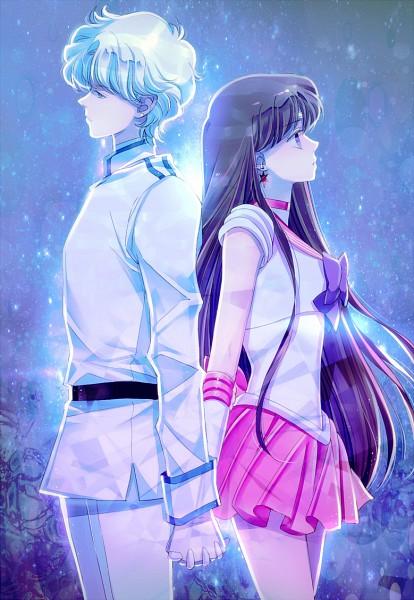 Tags: Anime, Saki Kunkatan, Bishoujo Senshi Sailor Moon, Sailor Mars, Jadeite, Hino Rei, Fanart From Pixiv, Fanart, Pixiv, Mobile Wallpaper, Pretty Guardian Sailor Moon
