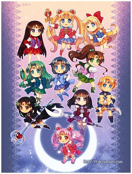 Tags: Anime, DAV-19, Bishoujo Senshi Sailor Moon, Sailor Venus, Tenou Haruka, Sailor Mercury, Tomoe Hotaru, Chibiusa, Mizuno Ami, Meiou Setsuna, Sailor Uranus, Tsukino Usagi, Sailor Jupiter, Pretty Guardian Sailor Moon