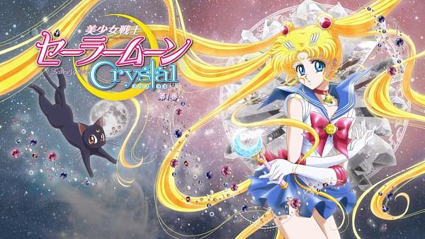 Tags: Anime, Sakou Yukie, Toei Animation, Bishoujo Senshi Sailor Moon, Sailor Moon (Character), Luna (Sailor Moon), Tsukino Usagi, Henshin Brooch, Moon Stick, Screenshot, Pretty Guardian Sailor Moon