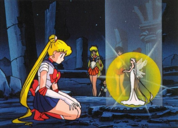 Tags: Anime, Bishoujo Senshi Sailor Moon, Sailor Moon (Character), Sailor Venus, Aino Minako, Queen Serenity, Tsukino Usagi, Screenshot, Inner Senshi, Pretty Guardian Sailor Moon