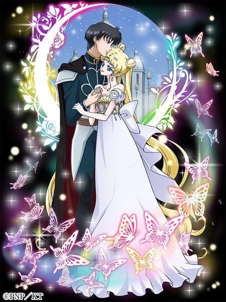 Tags: Anime, Sakou Yukie, Toei Animation, Bishoujo Senshi Sailor Moon, Mahoutsukai to Kuroneko no Wiz, Tsukino Usagi, Chiba Mamoru, Prince Endymion, Princess Serenity, Silver Millenium, Official Art, Twitter, Mobile Wallpaper, Pretty Guardian Sailor Moon