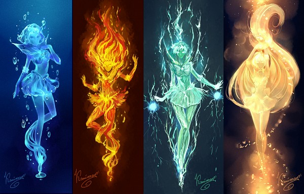 Tags: Anime, Kaminary, Bishoujo Senshi Sailor Moon, Kino Makoto, Sailor Mars, Aino Minako, Hino Rei, Sailor Venus, Mizuno Ami, Sailor Jupiter, Sailor Mercury, Element, Pixiv, Pretty Guardian Sailor Moon