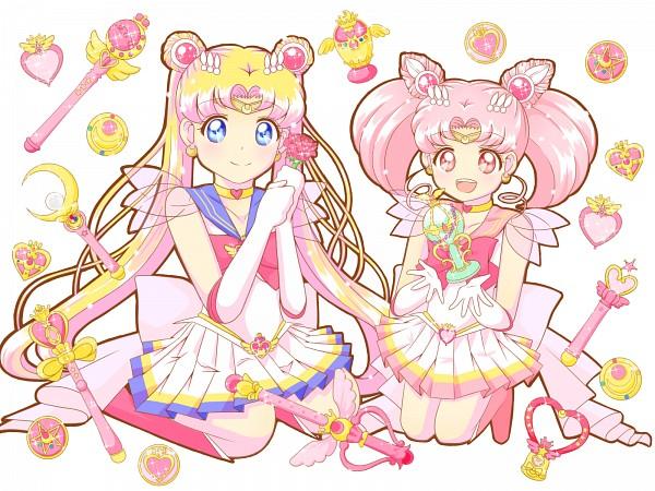 Tags: Anime, Pixiv Id 10756021, Bishoujo Senshi Sailor Moon, Sailor Moon (Character), Tsukino Usagi, Sailor Chibi Moon, Chibiusa, Holy Grail (Sailor Moon), Spiral Heart Moon Rod, Prism Heart Compact, Crystal Star, Crystal Carillon, Pink Moon Stick, Pretty Guardian Sailor Moon