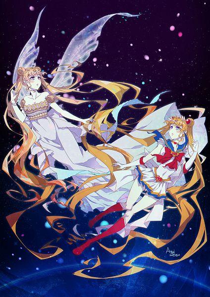 Tags: Anime, Pixiv Id 1398376, Bishoujo Senshi Sailor Moon, Princess Serenity, Tsukino Usagi, Sailor Moon (Character), Pixiv, Pretty Guardian Sailor Moon