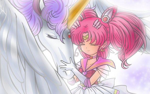 Tags: Anime, Pixiv Id 4682741, Bishoujo Senshi Sailor Moon, Sailor Chibi Moon, Chibiusa, Pegasus (Sailor Moon), Alicorn, Fanart From Pixiv, Wallpaper, Pixiv, Fanart, Pretty Guardian Sailor Moon