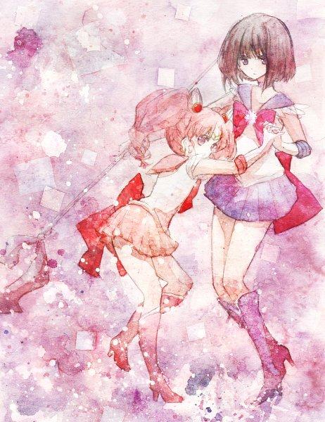 Tags: Anime, Ice (hotmilkice), Bishoujo Senshi Sailor Moon, Sailor Chibi Moon, Tomoe Hotaru, Chibiusa, Sailor Saturn, Fanart From Pixiv, Pixiv, Fanart, Pretty Guardian Sailor Moon