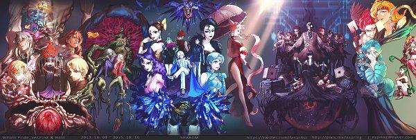 Tags: Anime, Bishoujo Senshi Sailor Moon, Ayakashi Beruche, Prince Diamond, Zoisite, Eudial, Hawk's Eye, Ayakashi Cooan, Tellu, Kaolinite, Queen Beryl, Mimete, Fisheye, Pretty Guardian Sailor Moon