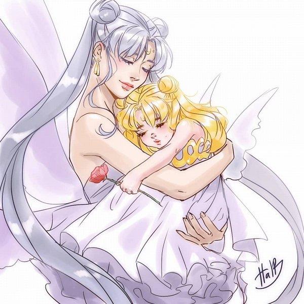 Tags: Anime, Haloblabla, Bishoujo Senshi Sailor Moon, Queen Serenity, Princess Serenity, Tsukino Usagi, Pretty Guardian Sailor Moon