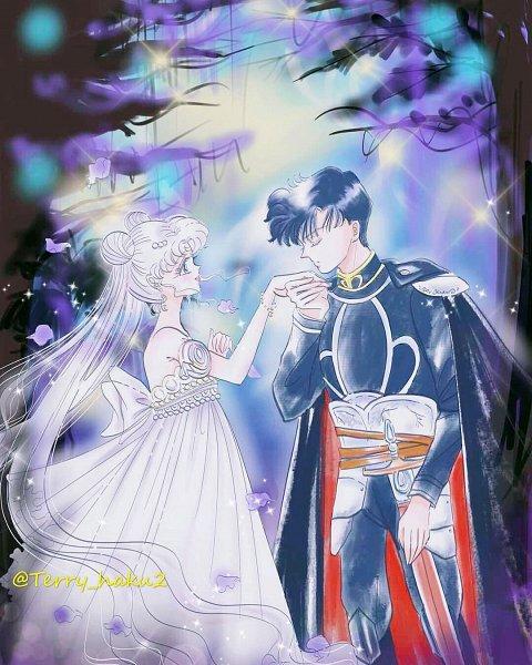 Tags: Anime, Terry Haku, Bishoujo Senshi Sailor Moon, Princess Serenity, Tsukino Usagi, Chiba Mamoru, Prince Endymion, Pretty Guardian Sailor Moon