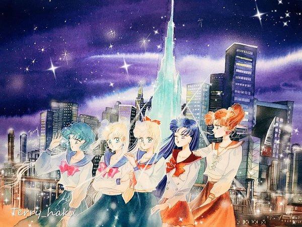 Tags: Anime, Terry Haku, Bishoujo Senshi Sailor Moon, Mizuno Ami, Tsukino Usagi, Kino Makoto, Aino Minako, Hino Rei, Pretty Guardian Sailor Moon