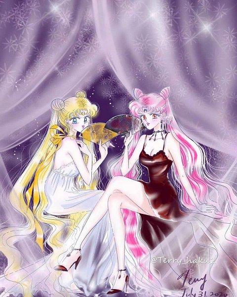 Tags: Anime, Terry Haku, Bishoujo Senshi Sailor Moon, Tsukino Usagi, Neo-Queen Serenity, Black Lady, Chibiusa, Pretty Guardian Sailor Moon