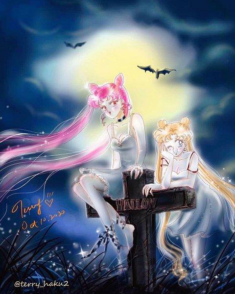 Tags: Anime, Terry Haku, Bishoujo Senshi Sailor Moon, Chibiusa, Tsukino Usagi, Pretty Guardian Sailor Moon