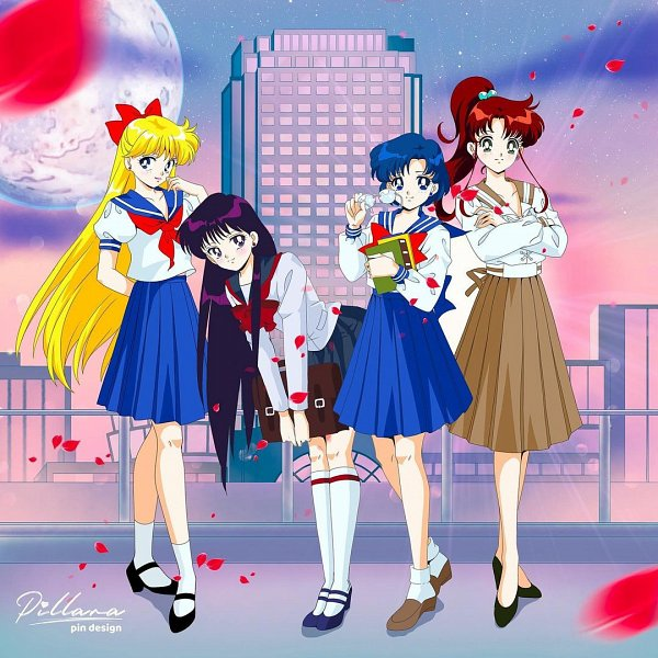 Tags: Anime, Pillara, Bishoujo Senshi Sailor Moon, Hino Rei, Mizuno Ami, Kino Makoto, Aino Minako, Pretty Guardian Sailor Moon