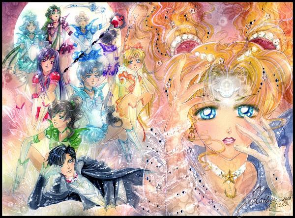Tags: Anime, Kathy Thiess (Soichiru), Bishoujo Senshi Sailor Moon, Luna (Sailor Moon), Sailor Moon (Character), Sailor Venus, Mizuno Ami, Aino Minako, Sailor Mercury, Artemis (Sailor Moon), Tsukino Usagi, Sailor Jupiter, Tomoe Hotaru, Pretty Guardian Sailor Moon