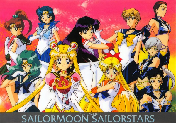 Tags: Anime, Tadano Kazuko, Bishoujo Senshi Sailor Moon, Sailor Uranus, Sailor Moon (Character), Sailor Star Healer, Sailor Jupiter, Sailor Mars, Hino Rei, Kaiou Michiru, Sailor Neptune, Yaten Kou, Sailor Venus, Pretty Guardian Sailor Moon