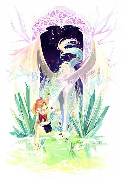 Tags: Anime, Nako (Nonrain), Bishoujo Senshi Sailor Moon, Diana (Sailor Moon), Pegasus (Sailor Moon), Chibiusa, Alicorn, Pegasus, Pixiv, Fanart, Mobile Wallpaper, Pretty Guardian Sailor Moon