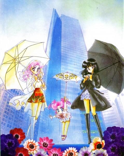 Tags: Anime, Takeuchi Naoko, Bishoujo Senshi Sailor Moon, Chibi Chibi, Tomoe Hotaru, Chibiusa, Official Art, Self Scanned, Scan, Pretty Guardian Sailor Moon