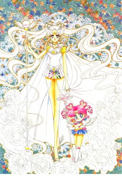 Tags: Anime, Takeuchi Naoko, Bishoujo Senshi Sailor Moon, Sailor Cosmos, Sailor Chibi Chibi Moon, Chibi Chibi, Scepter, Mobile Wallpaper, Scan, Manga Color, Self Scanned, Pretty Guardian Sailor Moon