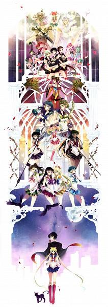 Tags: Anime, Nako (Nonrain), Bishoujo Senshi Sailor Moon, Luna (Sailor Moon), Aino Minako, Tuxedo Kamen, Palla Palla, Sailor Saturn, Sailor Ceres, Sailor Star Maker, Sailor Chibi Chibi Moon, Chibi Chibi, Tomoe Hotaru, Pretty Guardian Sailor Moon