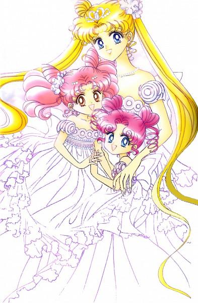 Tags: Anime, Takeuchi Naoko, Bishoujo Senshi Sailor Moon, Chibi Chibi, Neo-Queen Serenity, Chibiusa, Tsukino Usagi, Princess Usagi Small Lady Serenity, Serenity Crystal Tiara, Official Art, Mobile Wallpaper, Pretty Guardian Sailor Moon