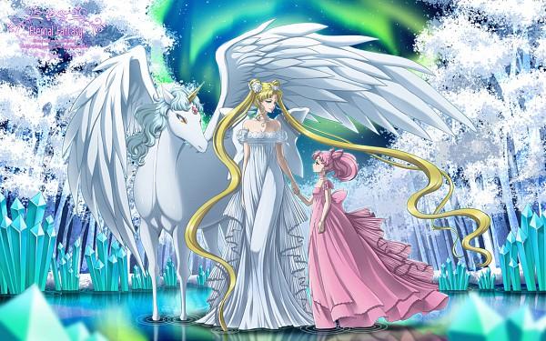 Tags: Anime, ShaineA, Bishoujo Senshi Sailor Moon, Chibiusa, Neo-Queen Serenity, Tsukino Usagi, Princess Usagi Small Lady Serenity, Pegasus (Sailor Moon), Aurora Borealis, Serenity Crystal Tiara, Alicorn, Pegasus, Pixiv, Pretty Guardian Sailor Moon