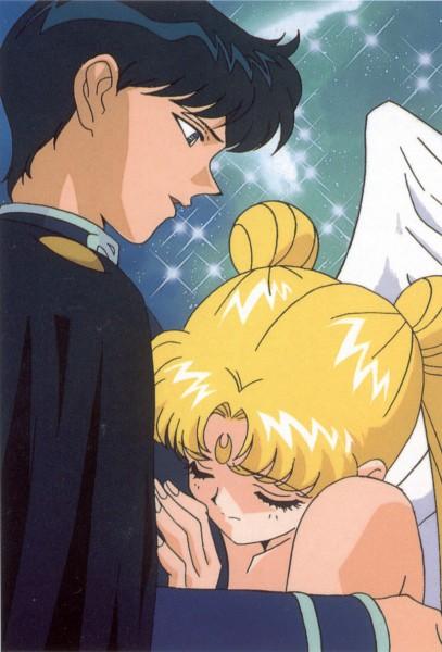 Tags: Anime, Tadano Kazuko, Bishoujo Senshi Sailor Moon, Chiba Mamoru, Prince Endymion, Tsukino Usagi, Mobile Wallpaper, Pretty Guardian Sailor Moon